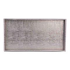 Home Basics Plastic Metallic Vanity Tray