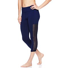 Women's Gaiam Lacie Yoga Mid-Rise Capri Leggings