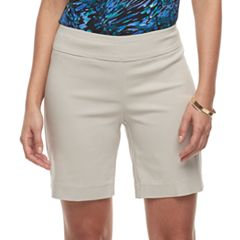 Women's Dana Buchman Midrise 8-in. Pull-On Shorts