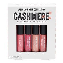 Academy of Colour 4-Pack Cashmere Satin Liquid Lip Collection