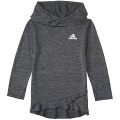 Girls 7-16 adidas Ruffled Space Dyed Melange Hoodie Sweatshirt