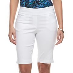 Women's Dana Buchman 11-in. Pull-On Bermuda Shorts