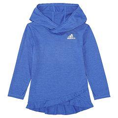 Girls 7-16 adidas Climalite Ruffled Melange Hoodie