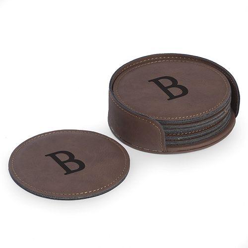 Bey-Berk Initial Monogrammed Coaster Set
