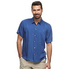 Men's Caribbean Joe Casual Fiji Floral Button-Down Shirt