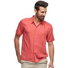 Men's Caribbean Joe Casual Fiji Floral Button-Down Shirt