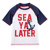 Boys 4-8 Carter's Printed Raglan Rash Guard