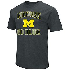 Men's Campus Heritage Michigan Wolverines Charcoal Tee