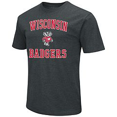 Men's Campus Heritage Wisconsin Badgers Charcoal Tee
