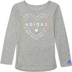 Girls 7-16 adidas 'Three Stripe Life' Long Sleeve Graphic Tee