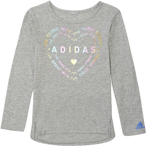 adidas Athletics 3 Stripe Life Long Sleeve Tee White Medium