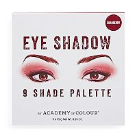 Academy of Colour 9 Shade Cranberry Eyeshadow Palette