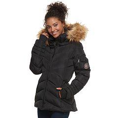 madden NYC Juniors' Short Puffer Jacket