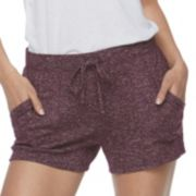 Juniors' SO® Cozy Brushed Jersey Shorts