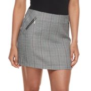 Juniors' Joe B Plaid A-Line Skirt