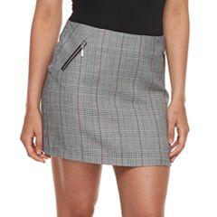 Juniors' Joe B Plaid A-Line Skirt