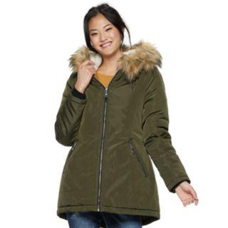 madden NYC Juniors' Sherpa-Hood Anorak Jacket
