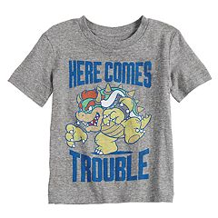 Toddler Boy Jumping Beans® Mario Bros. Bowser 'Here Comes Trouble Graphic Tee