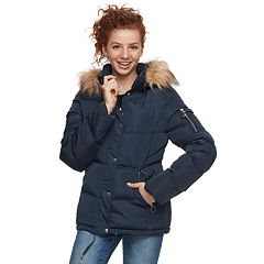 Juniors' madden NYC Faux-Fur Short Puffer Jacket