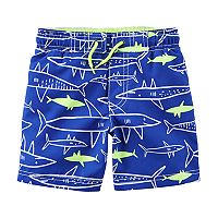 Boys 4-8 Carter's Sharks Swim Trunks