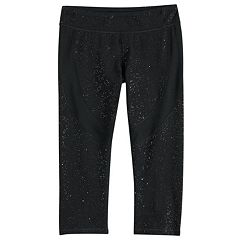 Girls 7-16 SO® Glitter Capri Leggings