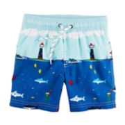 Boys 4-8 Carter's Sail Boats Swim Trunks