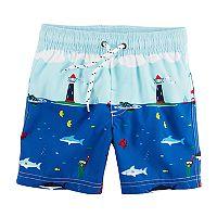 Boys 4-8 Carter's Sail Boats Swim Trunks