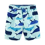 Boys 4-8 Carter's Whale Swim Trunks