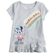 "Disney's Minnie Mouse Toddler Girl ""Paint The Town Rainbow"" Tee by Jumping Beans®"
