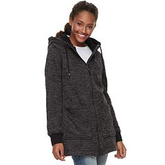 madden NYC Juniors' Sherpa-Lined Fleece Jacket