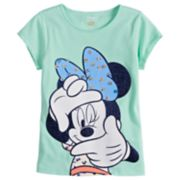 Disney's Minnie Mouse Girls 4-7 Glitter Dot Tee by Jumping Beans®