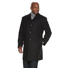 Men's Tower by London Fog Wool-Blend Single-Breasted High-Notch Collar Top Coat