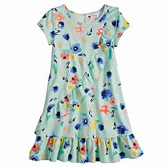 Disney's Minnie Mouse Girls 4-7 Floral Ruffle Front Dress by Jumping Beans®
