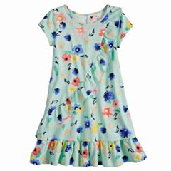 Disney's Minnie Mouse Toddler Girl Floral Ruffle Front Dress by Jumping Beans®