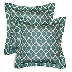 SONOMA Goods for Life™ Indoor Outdoor Flanged 2-Pack Reversible Throw Pillow Set