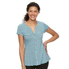 Women's Dana Buchman Peplum Hem Shirt