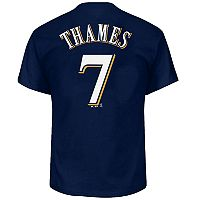 Big & Tall Majestic Milwaukee Brewers Eric Thames Name and Number Tee