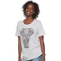 Juniors' Awake Elephant Graphic Tee