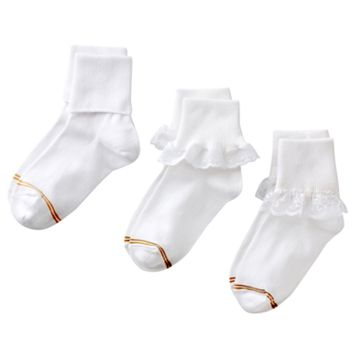Girls 4-16 GOLDTOE 3-pk. Lace Socks