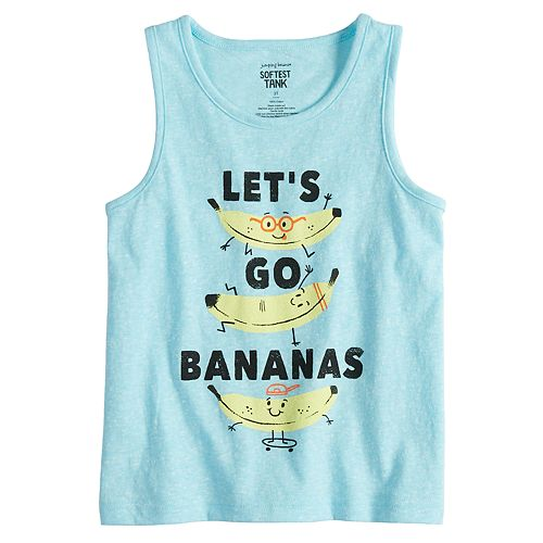 "Toddler Boy Jumping Beans® ""Let's Go Bananas"" Softest Tank Top"