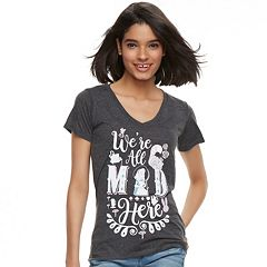 Disney's Alice in Wonderland Juniors' 'We're All Mad Here' V-Neck Tee