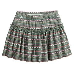 Girls 4-10 Jumping Beans® Pattern Ruffled Skort