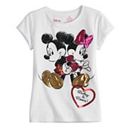 Disney's Mickey Mouse & Minnie Mouse Girls 4-7 Heart Tee by Jumping Beans®