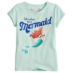 Disney's Little Mermaid Girls 4-7 Ariel 'I'd Rather Be A Mermaid' Flip Sequin Tee by Jumping Beans®