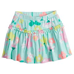 Girls 4-10 Jumping Beans® Happy Flower Ruffled Skort
