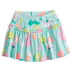 Girls 4-10 Jumping Beans® Happy Flower Ruffled Skort