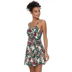 Juniors' Candie's® Wrap Romper Dress