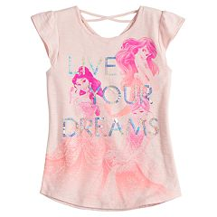 Disney Princess Girls 4-7 Ariel, Belle & Cinderella 'Live Your Dreams' Tee by Jumping Beans®