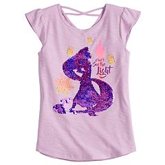Disney Princess Rapunzel Girls 4-7 'At Last I See The Light' Flip Sequins Tee by Jumping Beans®