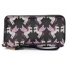 OMG Accessories Printed Zip-Around Wallet